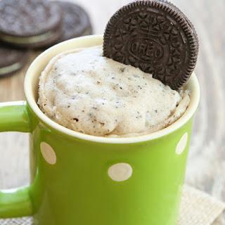 Cookies and Cream Mug Cake.