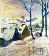 """Photo: Paul Gauguin, """"Villaggio sotto la neve"""" (1894)"""