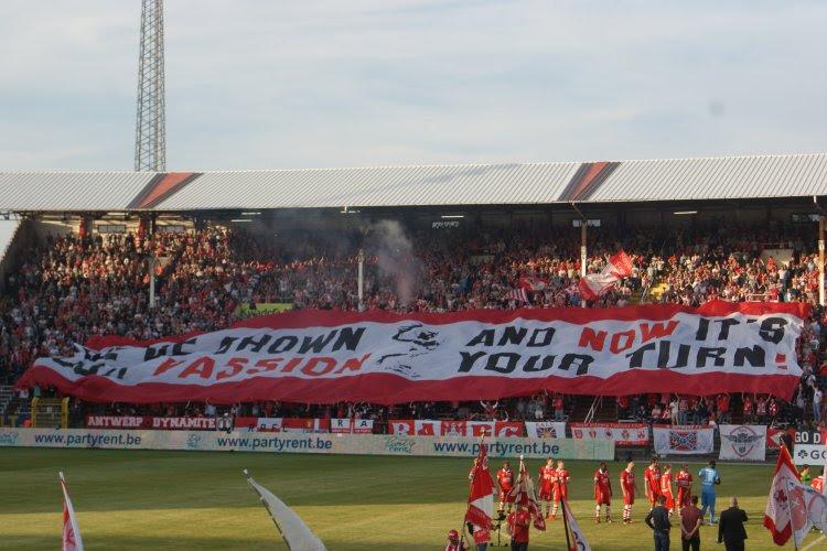 """L'Antwerp va installer """"le plus grand écran d'Europe"""" au Bosuil pour le match retour face à Roulers"""