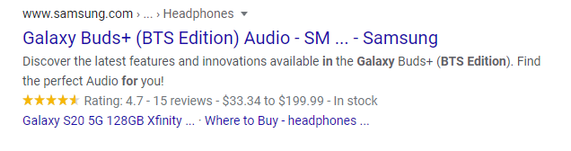 google rich snippets local business
