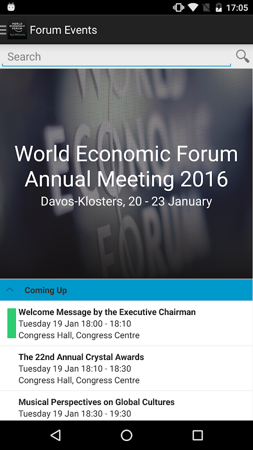 World Economic Forum Events- screenshot