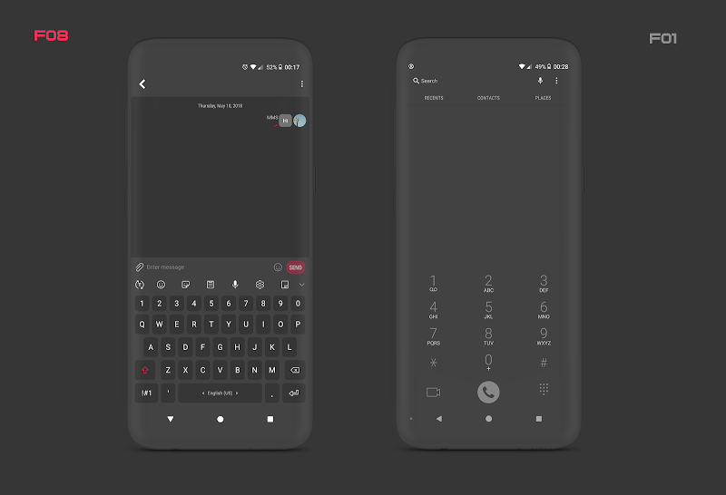 PitchBlack S╶ Samsung Substratum Theme Oreo/One Ui Screenshot 6