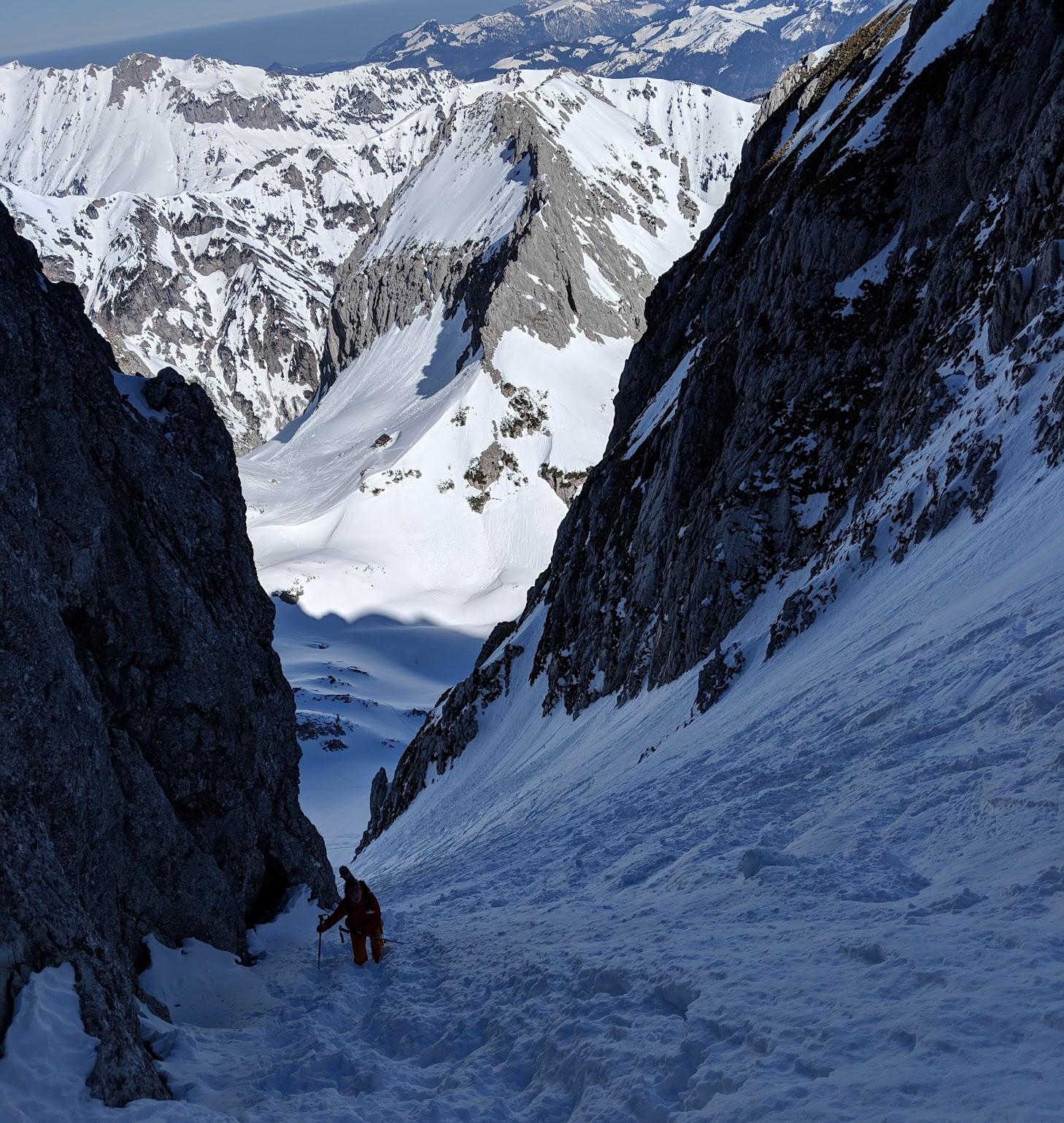 Schönwetterfensterl, Wilder Kaiser skitour - Mar 19