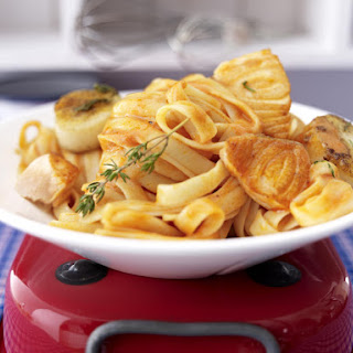 Salmon and Scallop Tagliatelle