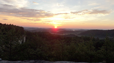 Photo: Sunrise View from Quarry Rock Camp Toccoa