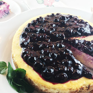 Lemon Blueberry Cheesecake.