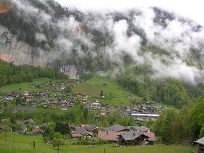 Photo: Powrót na obiad - rzut oka na szwajcarskie Alpy
