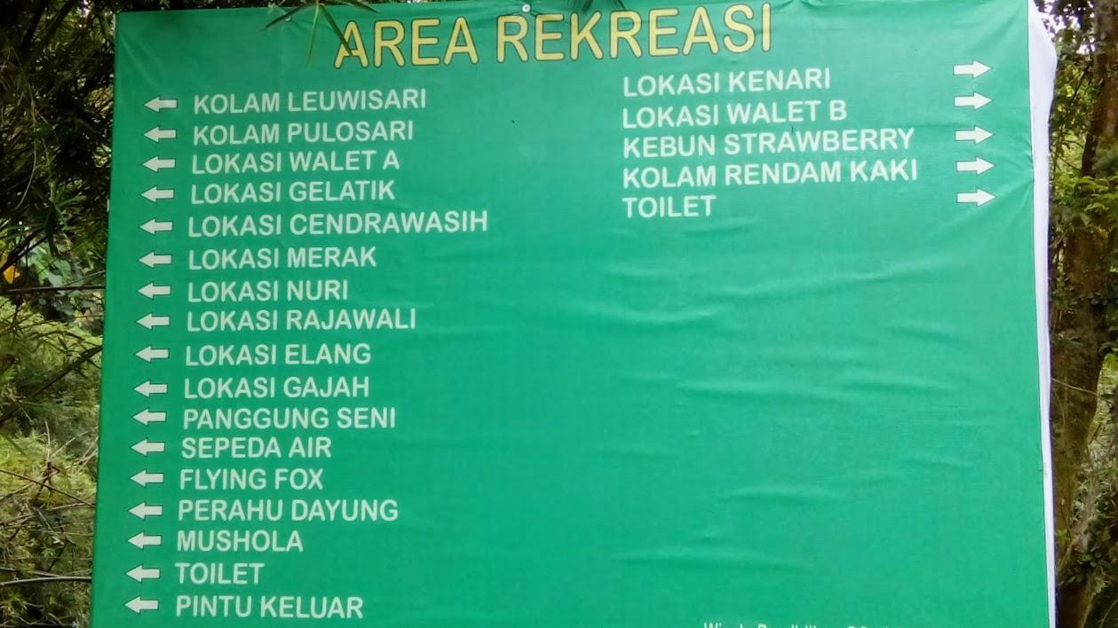 Area rekreasi di pemandian air panas alam Sari Ater