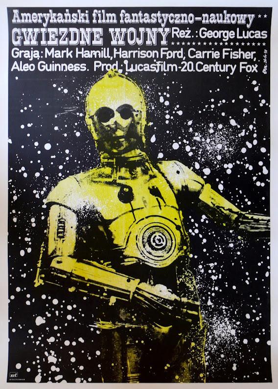 Polski plakat filmu Gwiezdne Wojny Nowa nadzieja