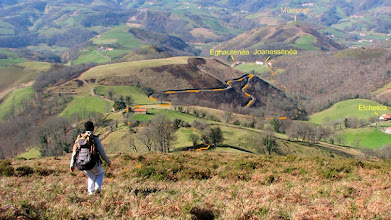 Photo: Nous suivons à peu près ce trajet face au Murrouoin ( murru «sommet» et de oin «pied») 603 ms