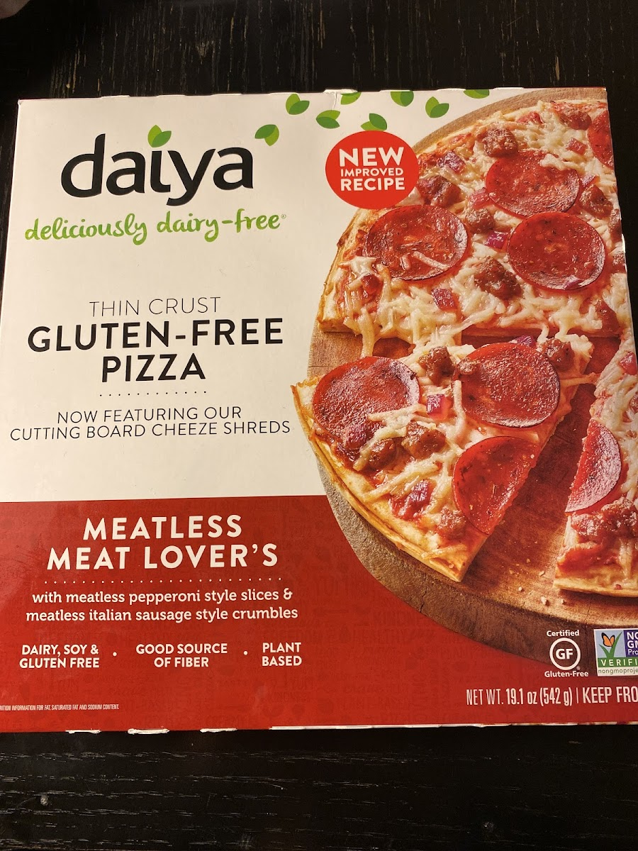 Thin Crust Gluten-Free Meatless Meat Lover's Pizza