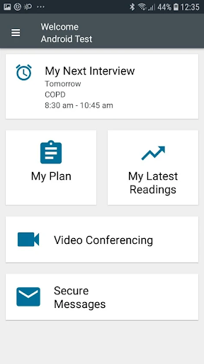 Tunstall myMobile for Android screenshot 1