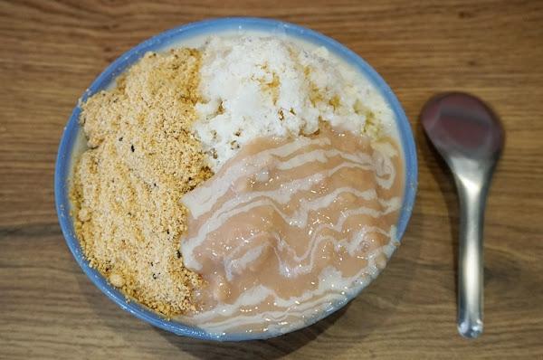 來呷甜甜品-蜜芋麻糬燒 芋頭、麻糬燒、雪花冰、刨冰、豆花、三種願望一次滿足 附菜單MENU