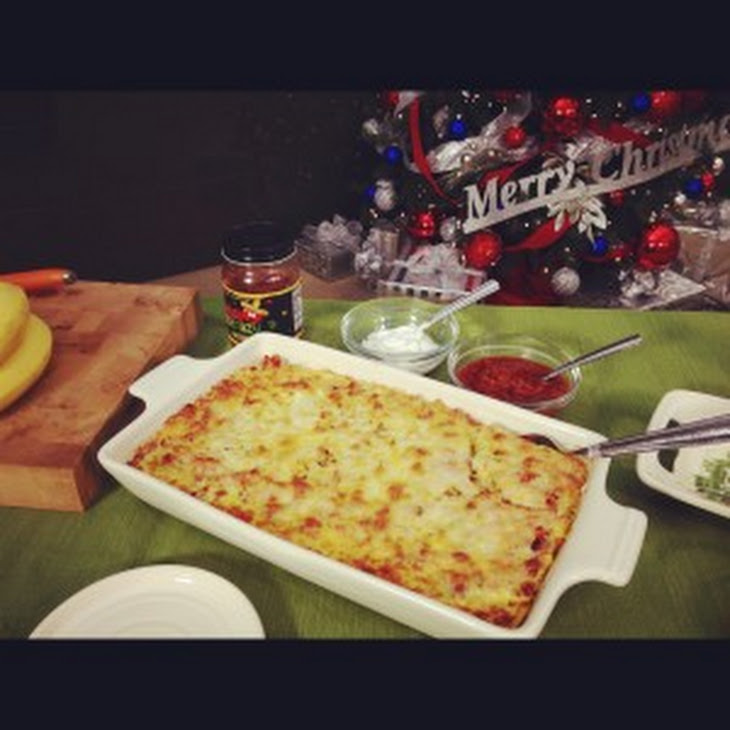 Make Ahead Egg Casserole with Ham and Green CHilies