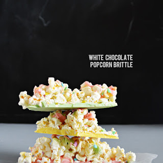 White Chocolate Popcorn Brittle