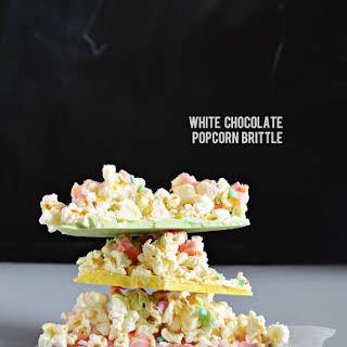 White Chocolate Popcorn Brittle.