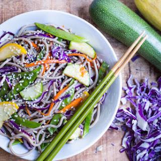 Rainbow Sesame Soba Noodle Salad