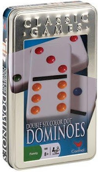 Cardinal Double Six Color Dot Domino Set