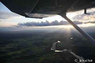 Photo: Tilbake over Norge sent på kvelden.