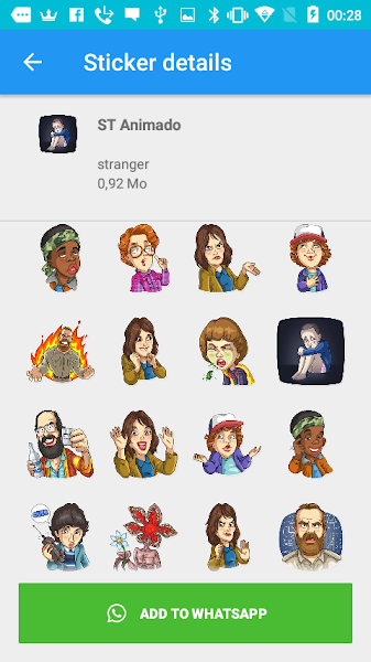 New Stranger Thins Stickers for Whatsapp 2019