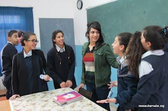 Photo: Fin de cours de français à l'école catholique melkite à Ramallah