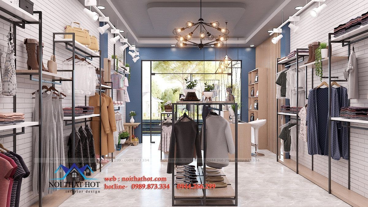 thiết kế shop thời trang cuốn hút