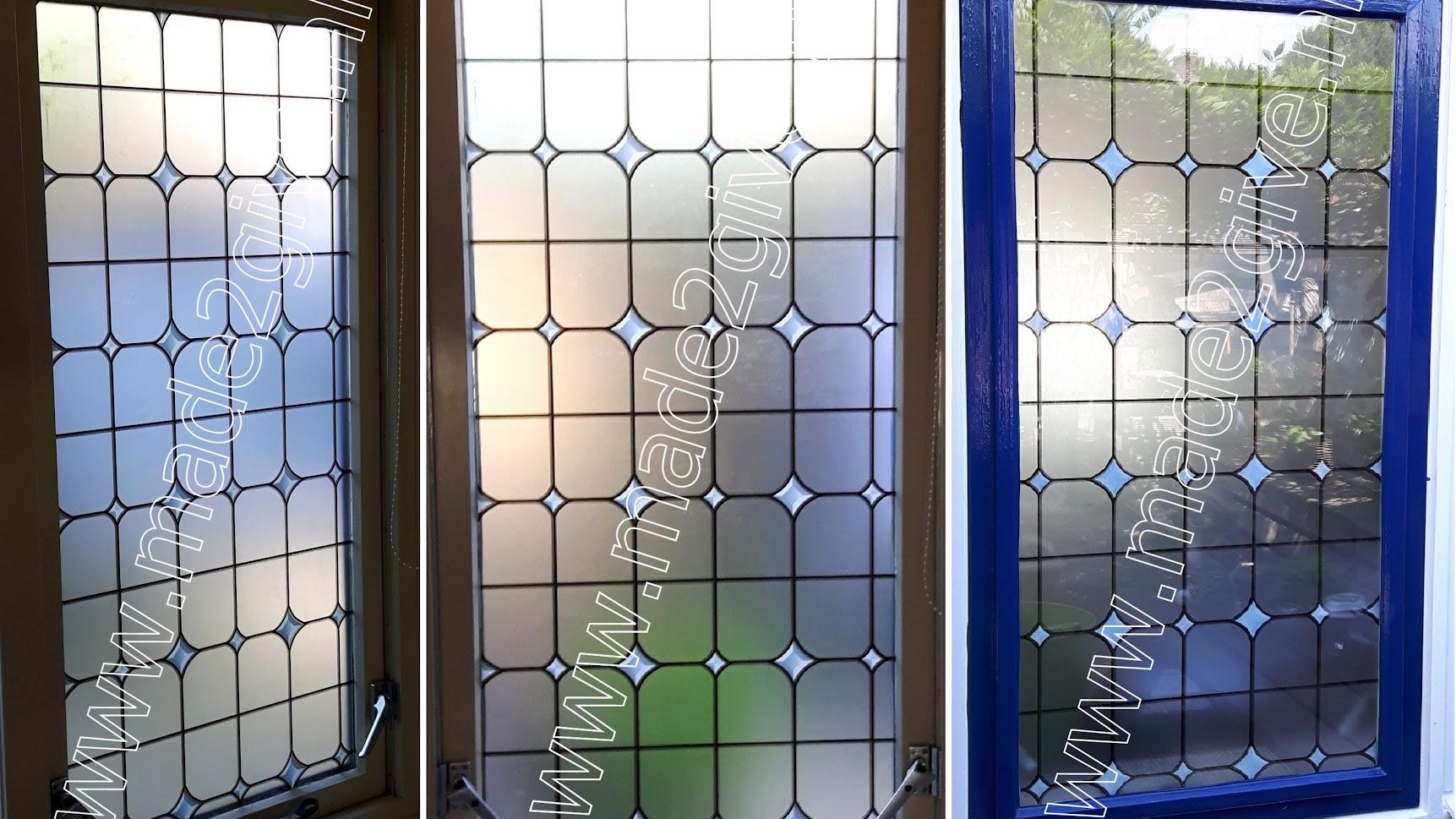 raamfolie / plakfolie glas in lood ruitje klassiek