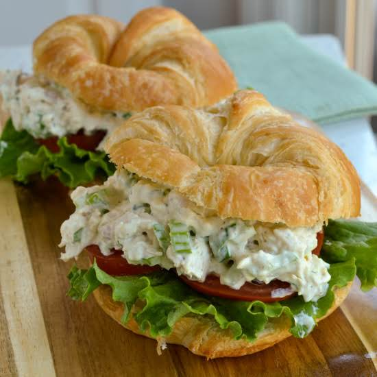 A Quick And Easy Classic Creamy Mayonnaise Based Chicken Salad Made With Already Baked Rotisserie Chicken.
