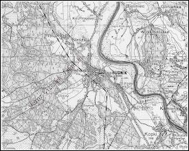 Photo: Fragment mapy z roku 1936 z opisem okolic Rudnika. Mapa pozyskana z sieci dzięki linkom ze strony Kopernika ( http://rudnikns.republika.pl/ ) podesłanym przez Arkadiusza Mazura, dzięki ! Oto adres do strony z mapami, może Goście tej galerii znajdą mapy swoich okolic: http://www.mapywig.org/news.php