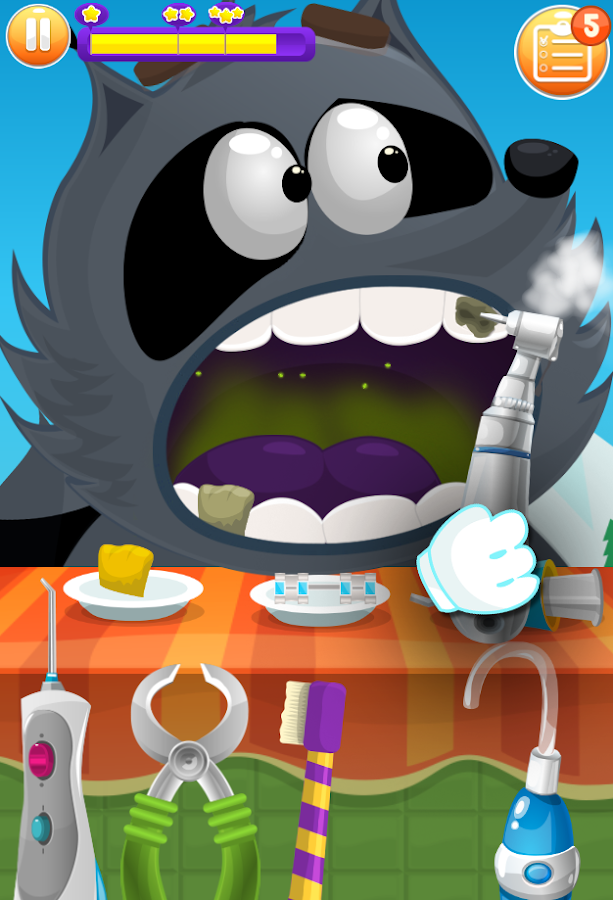 Doctor Teeth Dentist-  Racoon Boy Yetti- screenshot