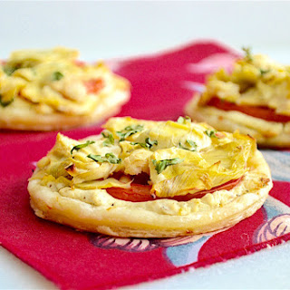 Artichoke, Tomato and Goat Cheese Tartlets