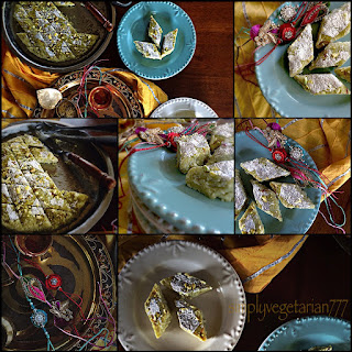 Pista Kalakand / Pistachio Cottage Cheese Milk Cake