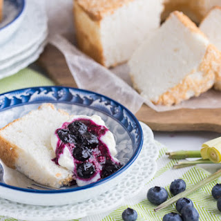 Angel Food Cake with Blueberry Lemongrass Topping