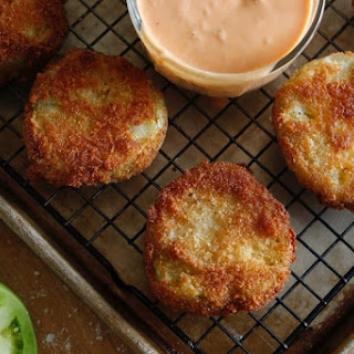 Fried Green Tomatoes with Comeback Sauce.