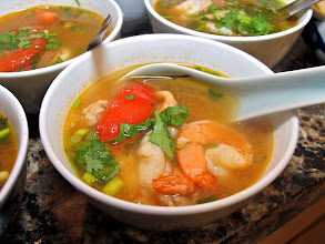 Photo: hot-and-sour prawn soup