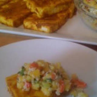 Grilled Indonesian Style Tofu with Peanut Mango Salsa.