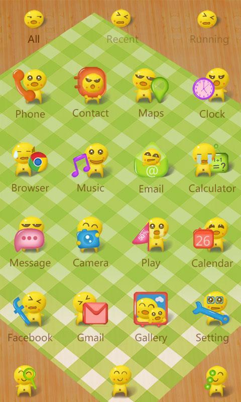 Скриншот Dumpling guy GO Launcher Theme