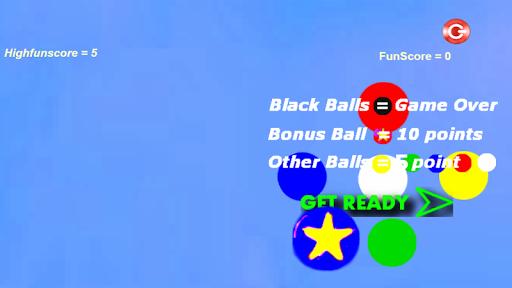 跳ねるボールタッチゲーム