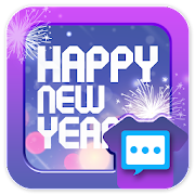 Happy New year 2019 skin 1 for Handcent Next SMS