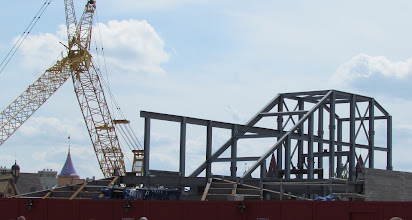 Photo: Looks like they've started to add some of the 'landscaping' for this ground hugging roller coaster.