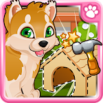 Puppy Pet Care & Dog House Icon