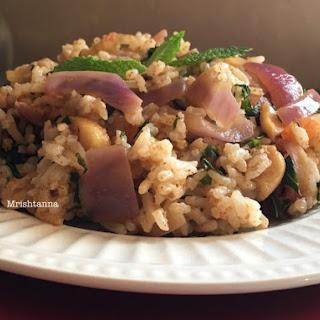 Simple Mint Rice- Pudina Rice Recipe