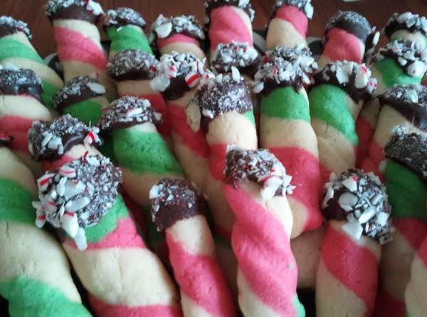 These Were Created From A Basic Butter Cookie Recipe. A Holiday Favorite Of Mine That I Wish For It To Become Yours Also. It Has Many Variations For It That As I Make Them I Will Be Happy To Post For All Of You Wonderful Fellow Cooks.