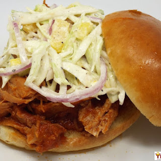 Hawaiian Pulled Pork with Pineapple Slaw.