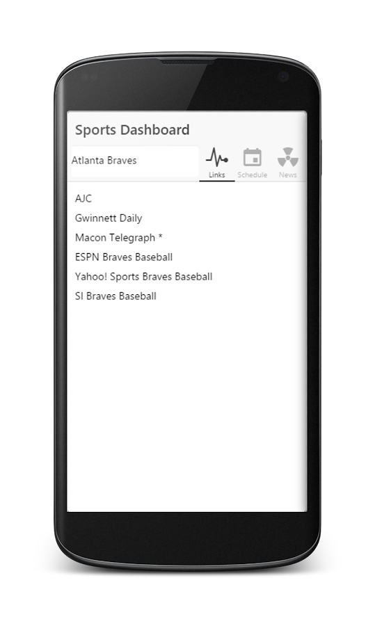 Sports Dashboard 2.0- screenshot