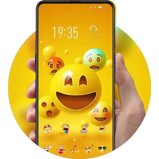 Emoji Face theme | Funny expression wallpaper
