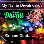 My Name Diwali Greeting Card Pics