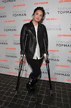 Photo: Demi Lovato arrives wearing Topshop.  Shop LA Style > http://bit.ly/XbGtM6