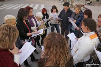 Photo: Huesca: 8M 2014 Ensayo de cánticos
