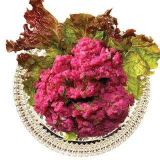 Sildesalat (Danish Smoked Herring, Beet, and Potato Salad).